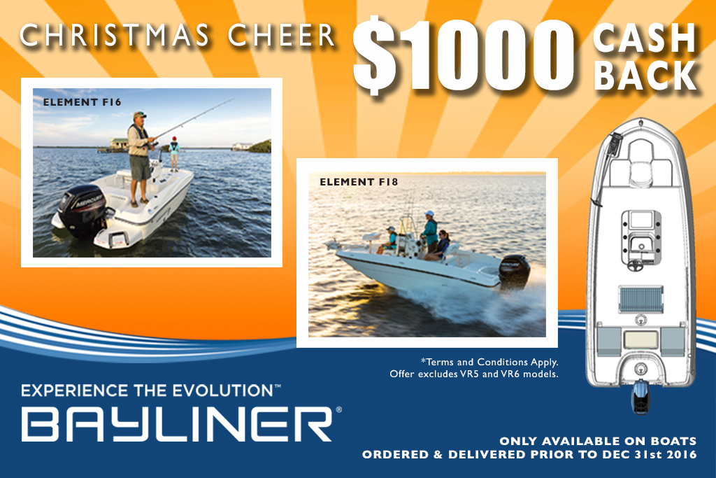 Bayliner Christmas Cheer – $1,000 Cash Back offer